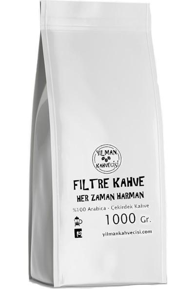 Yılman Kahvecisi Her Zaman Harman %100 Arabica Filtre French Press Kahve 1000 Gram Tam Çekirdek