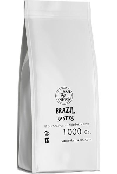 Yılman Kahvecisi Brazil Brezilya Santos %100 Arabica Filtre Kahve 1000 Gram Tam Çekirdek
