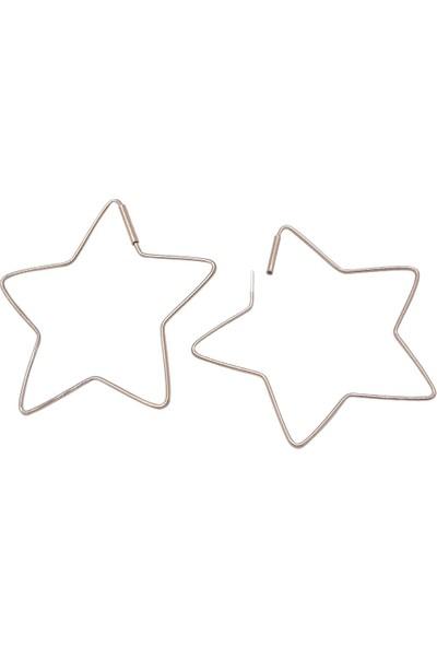Estel Taşsız Yıldız Gümüş Küpe