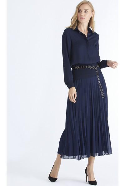 Triko Mısırlı Triko Detaylı Bluz