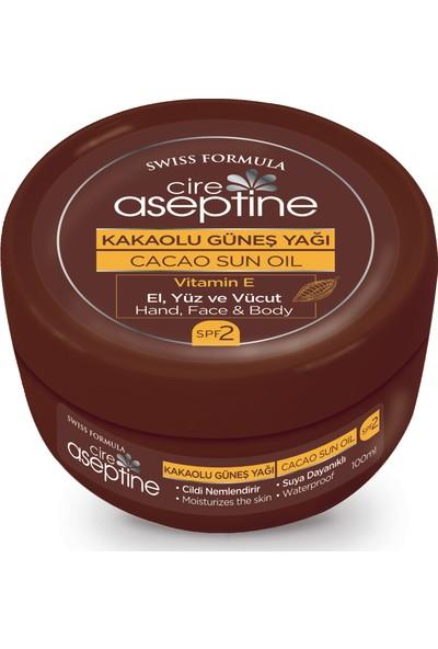 Cire Aseptine Kakaolu Güneş Yağı Spf 2 100 ml