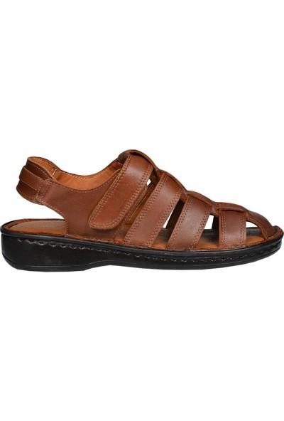 By Ceo 2816 Taba Deri Erkek Sandalet