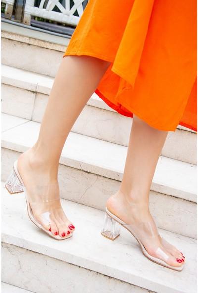 Fox Shoes Ten Kadın Topuklu Ayakkabı H654039309