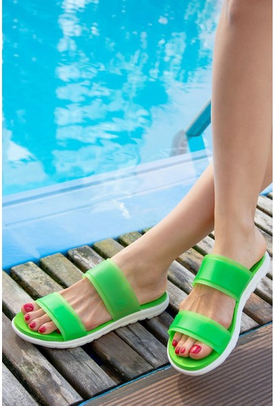 Fox Shoes Yeşil Kadın Terlik H350023509