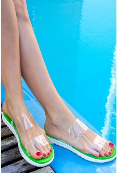 Fox Shoes Yeşil Kadın Terlik H350023523