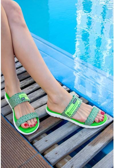 Fox Shoes Yeşil Kadın Terlik H350023609