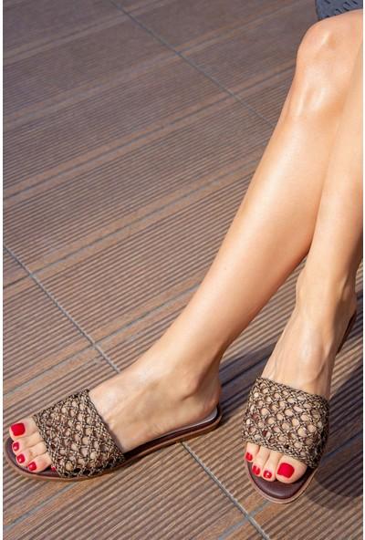 Fox Shoes Taba Kadın Terlik H777101209