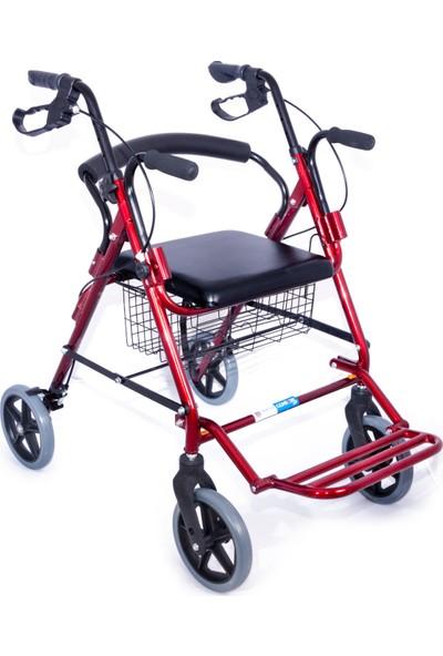 Comfort Plus DM9146 Ayak Pedallı Alüminyum RolatörTekerlekli Sandalye Gibi Kullanma Imkanı