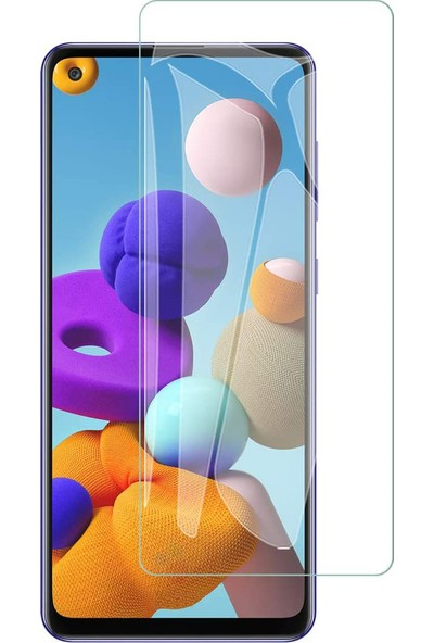 Case 4U Samsung Galaxy A21S Cam Ekran Koruyucu Nano Şeffaf