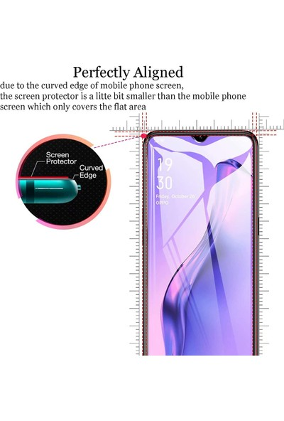 Case 4U Oppo A31 Cam Ekran Koruyucu Nano Şeffaf