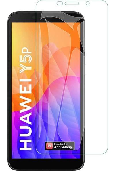 Case 4U Huawei Y5P Cam Ekran Koruyucu Temperli Şeffaf