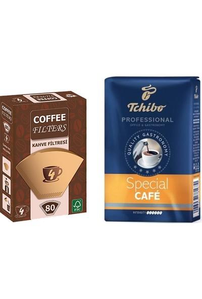 Tchibo Profesional Special Filtre Kahve 250 gr + Coffee Filters Filtre Kahve Kağıdı No:2 80'li