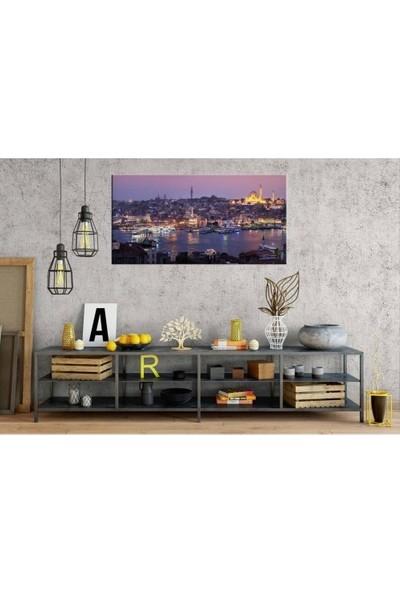 Zelyum Istanbul Eminönü Panoramik Kanvas Tablo