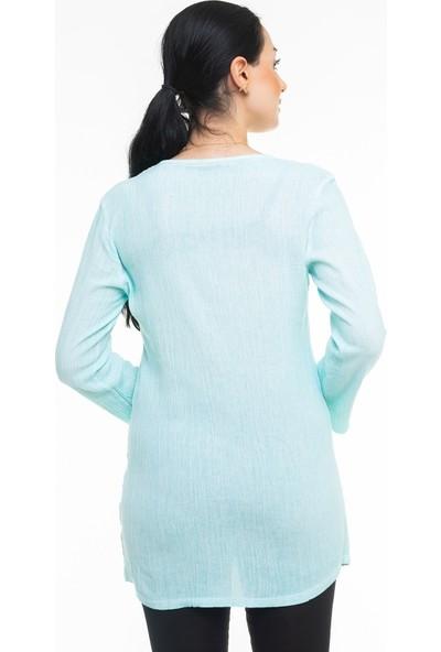 Maldia Dantel Yaka İtalyan Bluz
