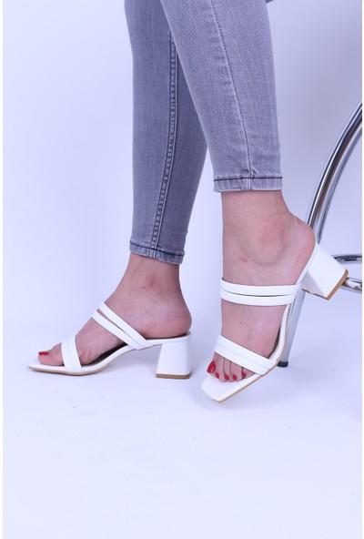 Derigo Beyaz Kadın Topuklu Ayakkabı 39069