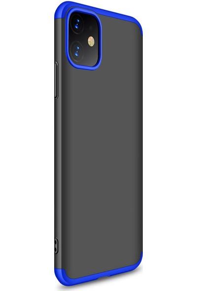 Vendas Apple iPhone 11 Full Body Tam Kaplama Koruyucu Kılıf - Siyah - Mavi