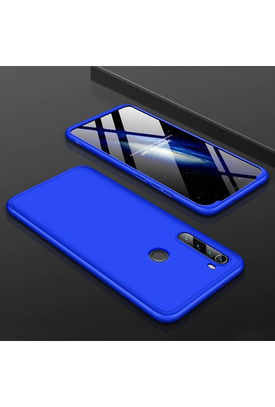 Vendas Xiaomi Redmi Note 8 Full Body Tam Kaplama Koruyucu Kılıf - Mavi
