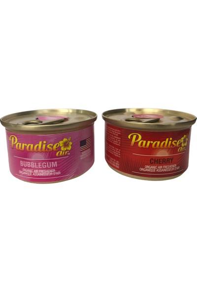 Paradise Air Bubblegum & Cherry 2'li Organik Oto Koku