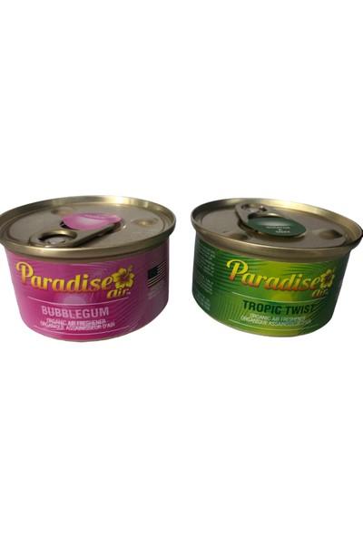 Paradise Air Bubblegum & Tropic Twist 2'li Organik Oto Koku