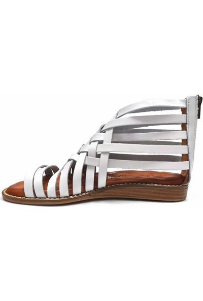 Mammamia D20YS 1265 Deri Kadın Sandalet