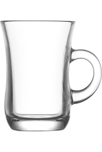 Lav Yudum 6'lı Kulplu Çay Bardağı