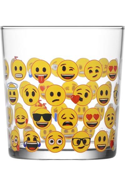 Lav Emoji Tekli Meşrubat Bardağı