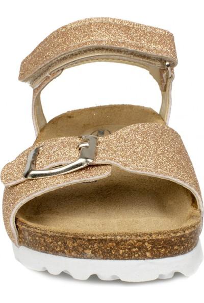 Kifidis Sk09 Deri Mantar Taban Bakır Çocuk Sandalet