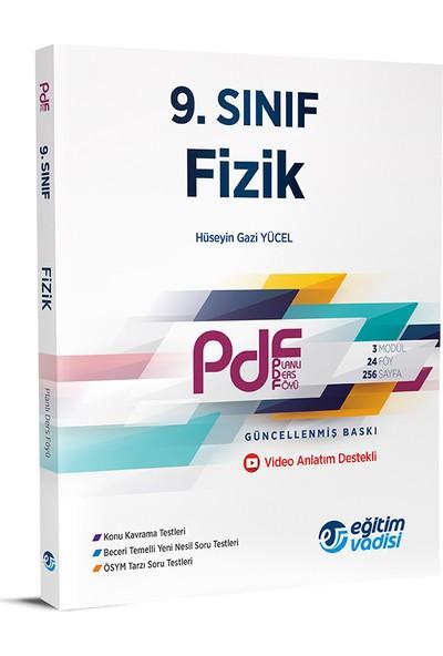 Eğitim Vadisi Yayınları 9. Sınıf Fizik Pdf Planlı Ders Föyü