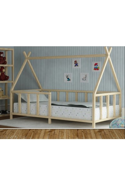 Baby Kinder 90 x 190 cm Kızıldereli Montessori Bebek Çocuk Karyolası