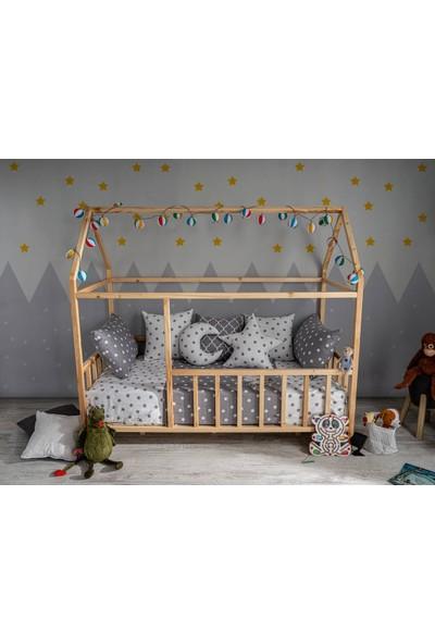 Baby Kinder 90 x 190 cm Çatılı Montessori Bebek Çocuk Karyolası