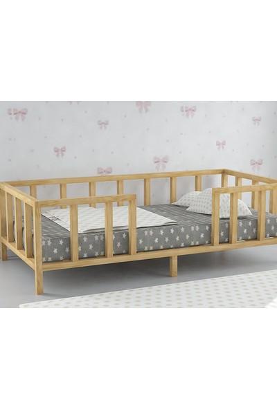 Baby Kinder 90 x 190 cm Çatısız Montessori Bebek Çocuk Karyolası