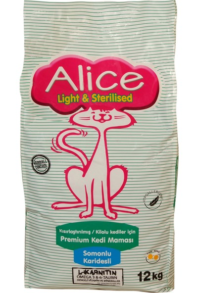 Alice Light & Strerilised 12 Kg (Kısır ve Kilolu Kedilere Özel)