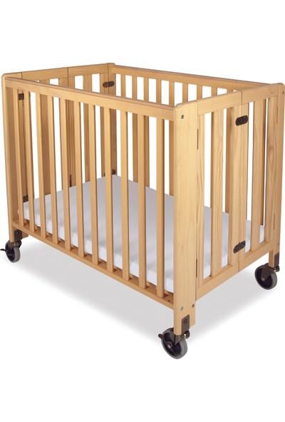Foundations Hideaway Katlanır Masif Ahşap Bebek Yatağı