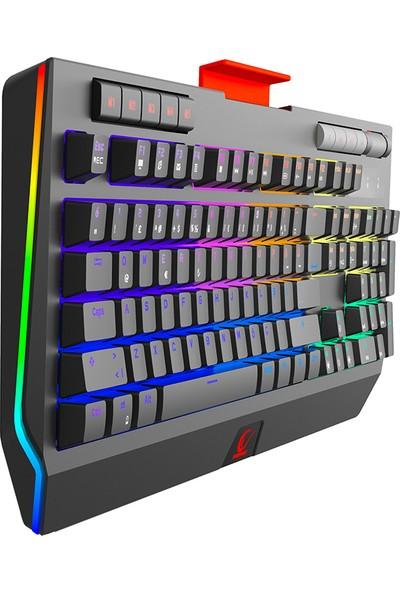 Rampage KB-R105 EXHERO Full RGB Ledli Outemu Blue Switch 5 Makro Tuşlu Gaming Klavye