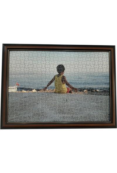 Deritel 1000 Parça Puzzle Çerçevesi Ceviz 48 x 68 40 mm