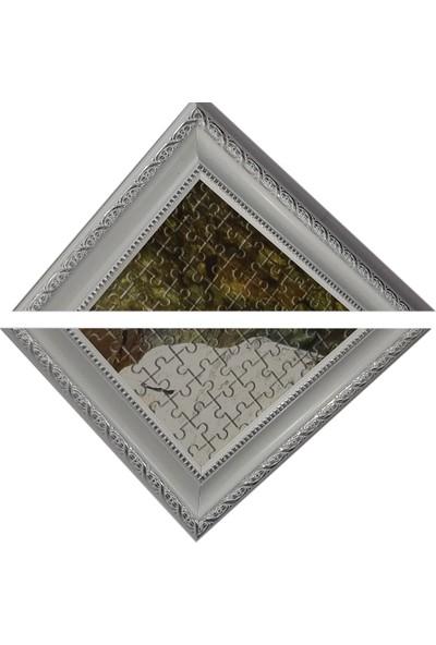 Deritel 2000 Parça Puzzle Çerçevesi Beyaz 96 x 68 52 mm