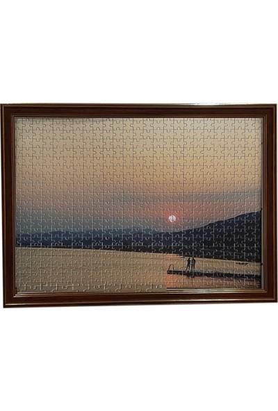 Deritel 500 Parça Puzzle Çerçevesi Ceviz 34 x 48 30 mm