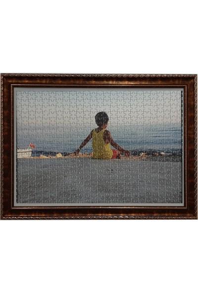 Deritel 2000 Parça Puzzle Çerçevesi Gölge Ceviz 96 x 68 52 mm