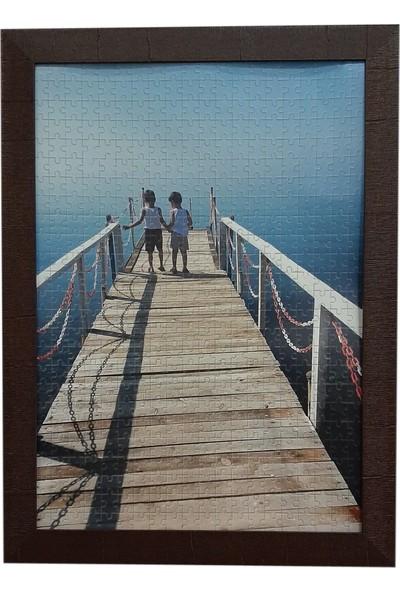 Deritel 1500 Parça Puzzle Çerçevesi Ceviz 85 x 60 45 mm
