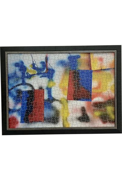 Deritel 2000 Parça Puzzle Çerçevesi Siyah 96 x 68 50 mm