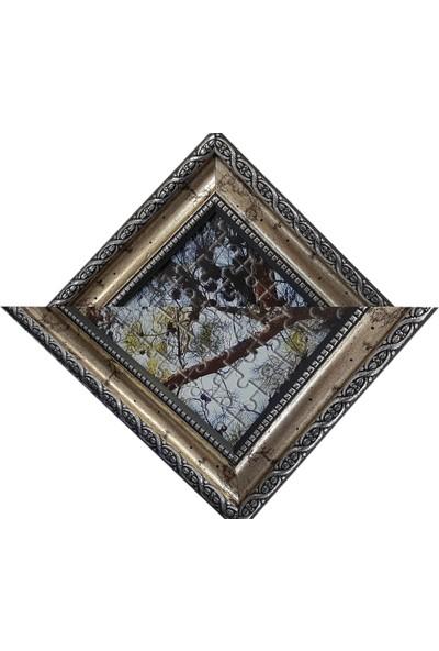Deritel 1000 Parça Puzzle Çerçevesi Gümüş 48 x 68 45 mm