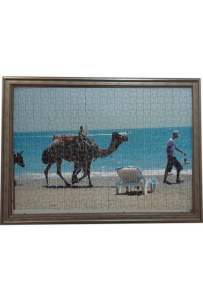 Deritel 1000 Parça Puzzle Çerçevesi Gümüş 48 x 68 40 mm
