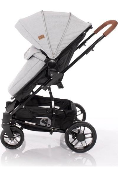 Lorelli S500 Travel Sistem Set Bebek Arabası - Grey Black Cross