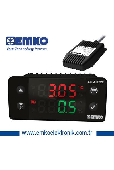 Emko ESM-3722 Ssr Çıkışlı Kuluçka Kontrol Cihazı Isı ve Nem Sensörü Dahil