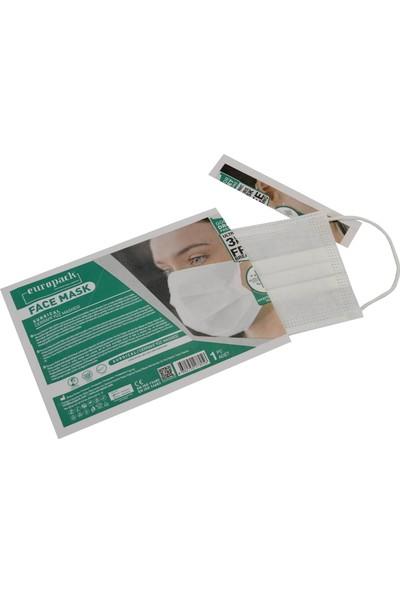 Europack Full Ultrasonik Tek Tek Paketli Premium Telli Maske 50'li 5 Kutu