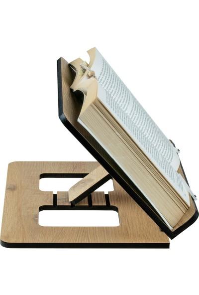 Vigo Wood Kitap Okuma Standı Meşe Mdf Slim