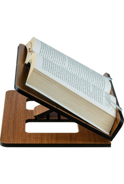 Vigo Wood Kitap Okuma Standı Teak Mdf Slim