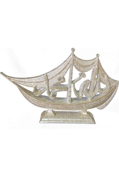 Berk Hediyelik Allah Cc Muhammed Sav Lafzı Gemi Dini Motif Biblo