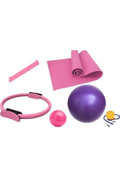 Taled 6'lı Pilates Seti ( Küçük Büyük Top-Mat- Çember-Lastik-Pompa)