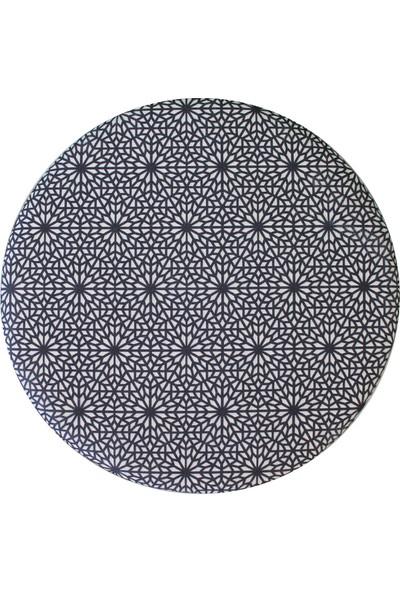 Arasta Life Style Ece Mozaik Serisi Yuvarlak Puf Tabure Krem